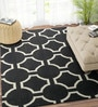 Ivory & Black Wool 72 x 48 Inch Carpet by Imperial Knots