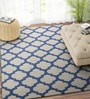 Ivory & Blue Wool 60 x 96 Inch Carpet by Imperial Knots