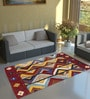 Multicolour Wool 72 x 48 Inch Gabbeh Hand knotted Area Rug Are Rug by Imperial Knots