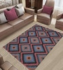 Imperial Knots Multicolor Woolen Block Print Rectangular Turkish Kilim Rug