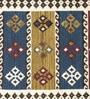 Imperial Knots Multicolor Woolen Stripes Rectangular Kilim Rug