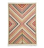 Multicolour Wool 72 x 48 Inch Geometric Handknotted Carpet by Imperial Knots
