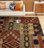 Imperial Knots Multicolour Wool 72 x 48 Inch Patch Handtufted Carpet