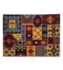 Imperial Knots Multicolour Wool 96 x 60 Inch Handwoven Patchwork Dhurrie