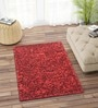 Red Polyester 36 x 29 Inch Carpet by Imperial Knots