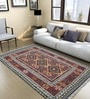 Imperial Knots Vintage Kilim Grey & Maroon Wool Area Rug
