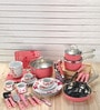 Pink Kitchen Starter Set - Set of 59 by Importwala