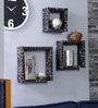Importwala Black & White MDF Leopard Wall Sheves - Set of 3