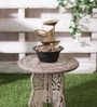 Brown & Gold Metal & Resin Leaf-Shaped Indoor Fountain by Importwala