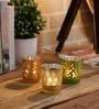 Frost Mercury Glass Small Votive Set - Set of 3 by Importwala