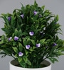 Importwala Green & Blue Ceramic Artificial Plant in Pot