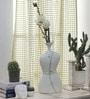 Ivory Ceramic Vase by Importwala