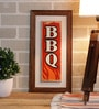Multicolour Ceramic BBQ Tile Wall Frame by Importwala