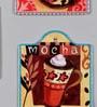Multicolour Ceramic Cafe Latte Trivets - Set of 3 by Importwala