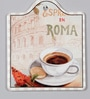 Multicolour Ceramic Cafe Rome Trivets - Set of 2 by Importwala