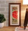 Importwala Multicolour Ceramic Pizza Tile Wall Frame