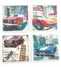 Importwala Vintage Car Multicolour Ceramic Coaster - Set of 4