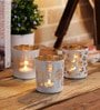 Importwala White & Gold Flickering Votive Set - Set of 3