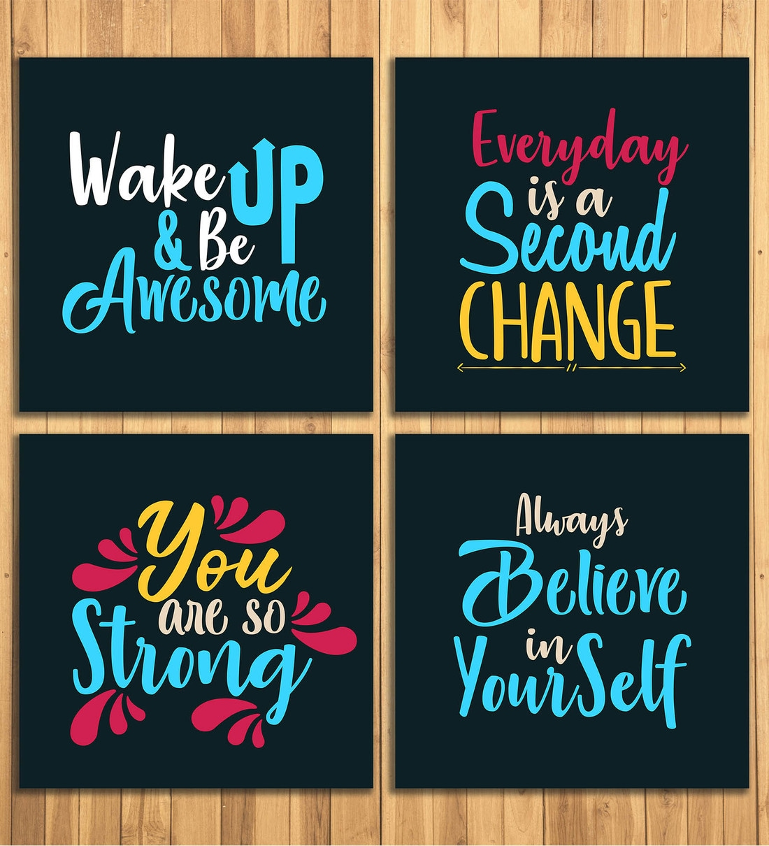 Buy Inspirational Quotes Wall Panels by Wens Online - Kids Wall Art - Kids Decor - Kids Furniture - Pepperfry Product