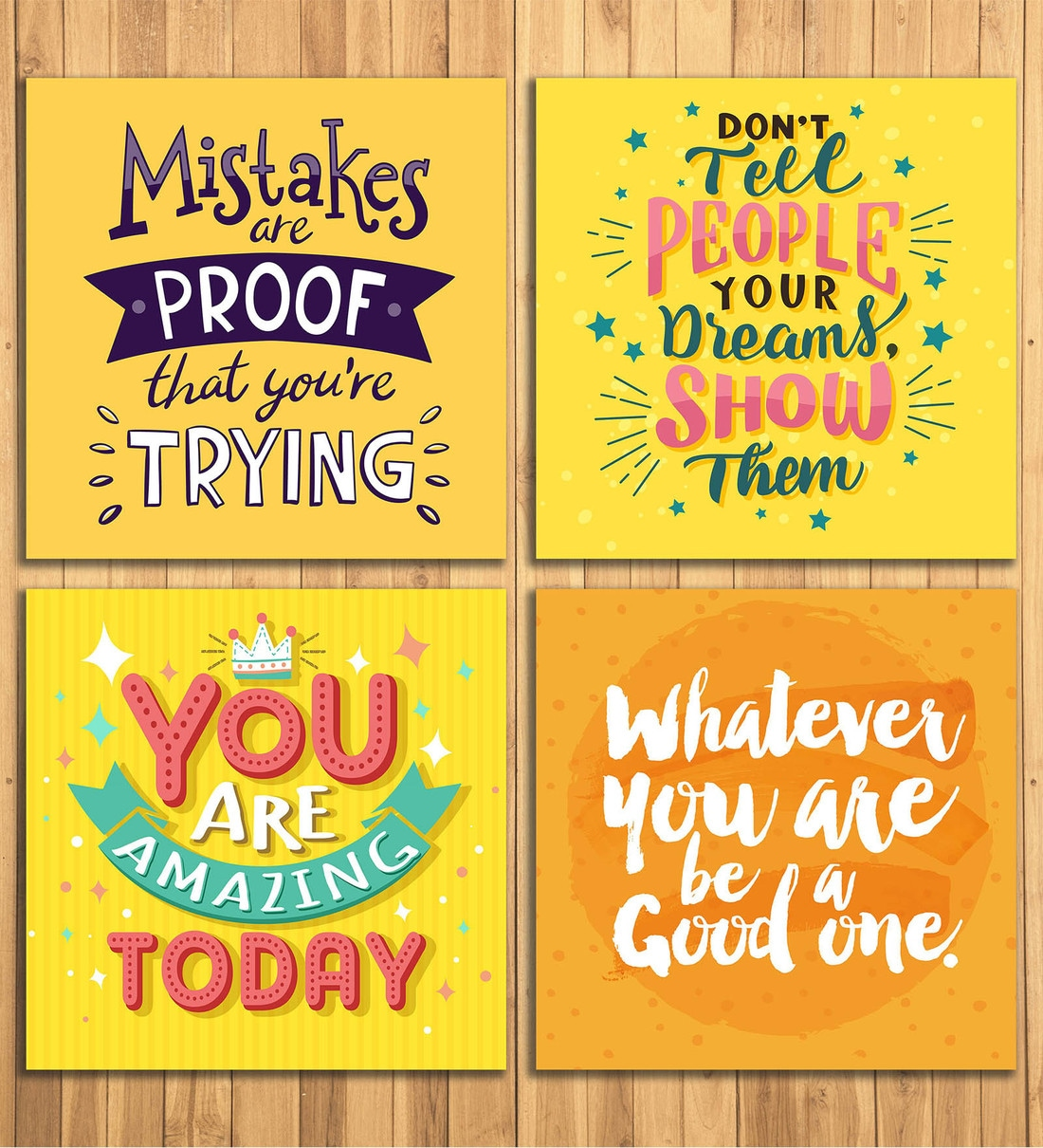 Buy Inspirational Quotes Wall Panels in Yellow by Wens Online - Kids Wall  Art - Kids Decor - Kids Furniture - Pepperfry Product