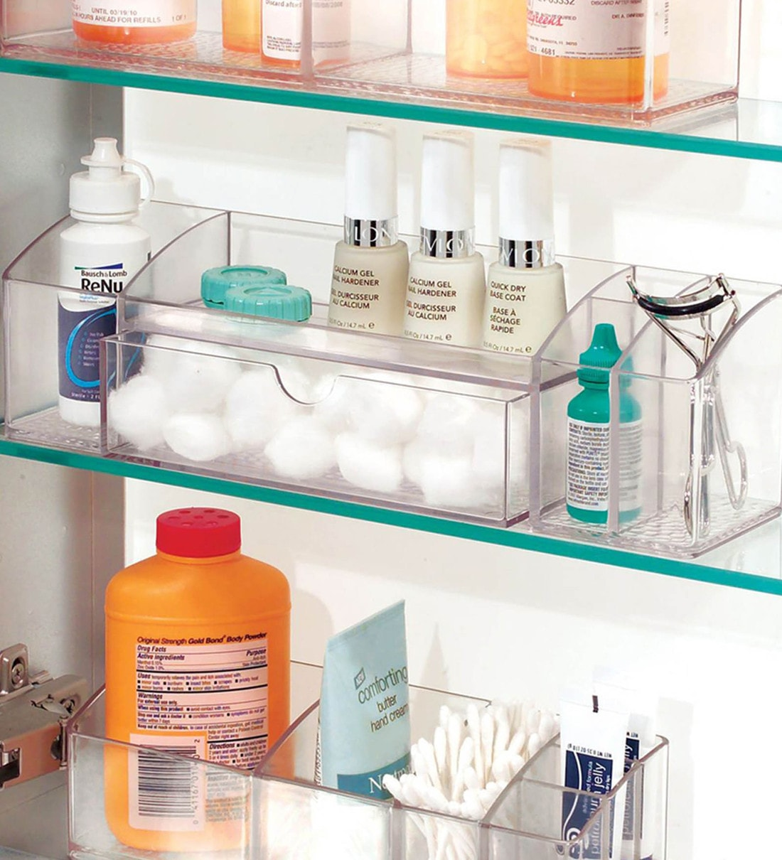 Buy Interdesign Med Bathroom Medicine Cabinet Organizer For Makeup Contact Lenses Solution Cotton Balls Clear Online Makeup Organisers Accessory Holders Homeware Pepperfry Product