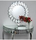 Silver Glass Interior Attractively Bordered Wall Decorative Mirror