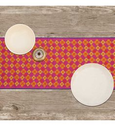 India Circus Maze Of Melange Multicolour Canvas Placemats With Napkins Set - Set Of 6