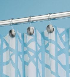 Interdesign Forma Matte Silver Large Shower Curtain Hooks - Set Of 12