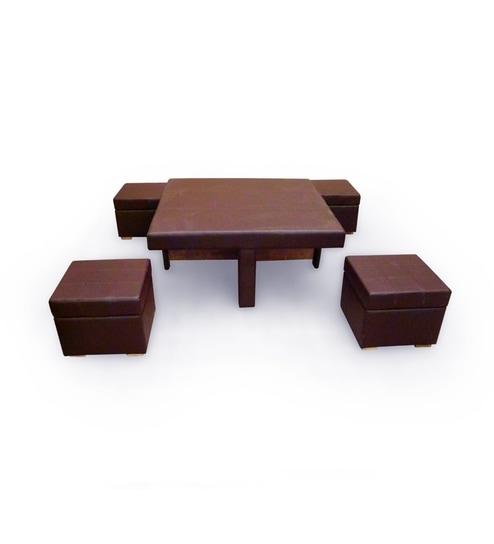 Bert Mushroom Storage Coffee Table: Buy Tamarind Ingenious Coffee Table With Four Storage