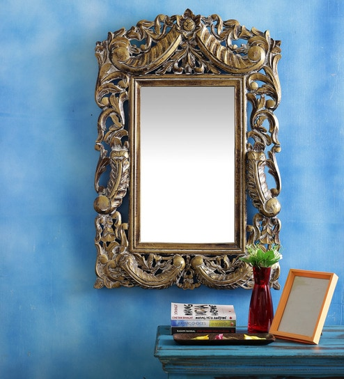 Buy In\'Design Brown Mango Wood Carved Mirror Frame Online - Colonial ...