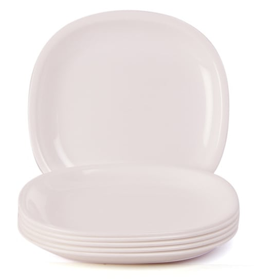 Incrizma White Plastic Square Dinner Plates - Set of 12  sc 1 st  Pepperfry & Buy Incrizma White Plastic Square Dinner Plates - Set of 12 Online ...