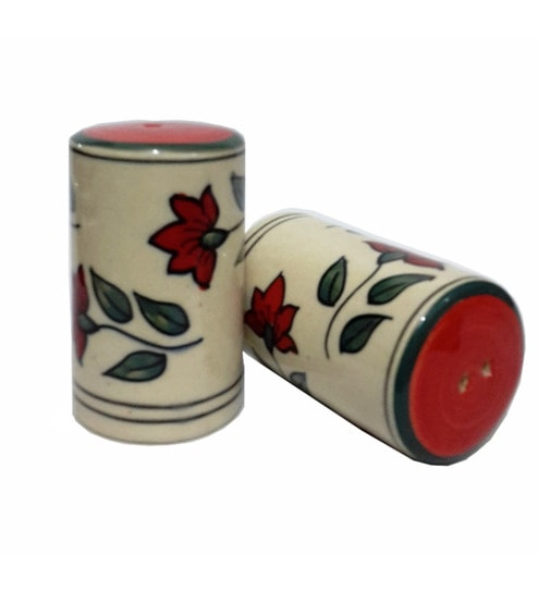 Indeasia Srijan Lead Free Multicolour 30 ML (Each) Salt & Pepper Shaker - Set of 2