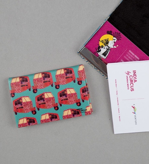 Buy india circus funk on road faux leather multicolour visiting card india circus funk on road faux leather multicolour visiting card holder reheart Gallery
