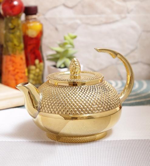 Buy Indian Art Villa Brass 450 ML Tea Pot Online - Teapots & Kettles ...