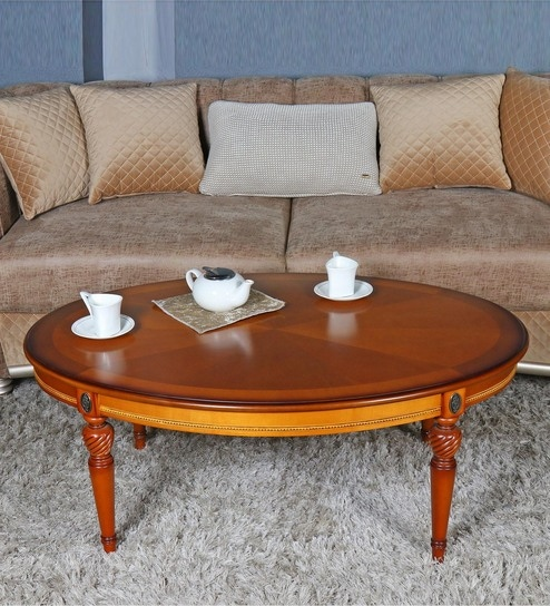 Infanta Solid Wood Oval Coffee Table By Gianis Global