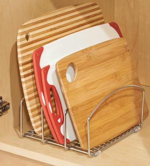 Steel Kitchen Organizer for Cutting Boards, Plates - 8 4 X 5 5 Inches