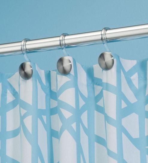 Interdesign Forma Matte Silver Large Shower Curtain Hooks