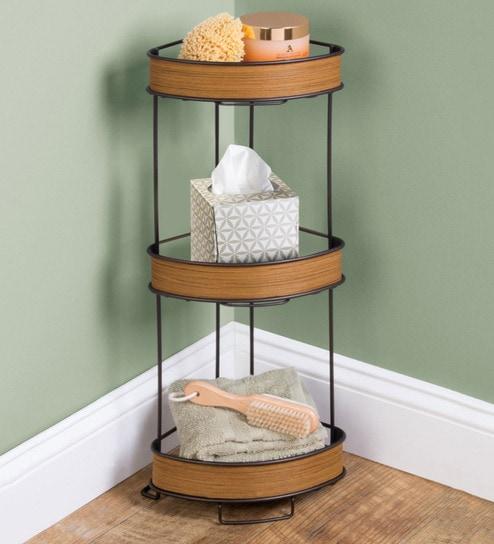 Interdesign Real Wood 3 Tier Corner Shelves