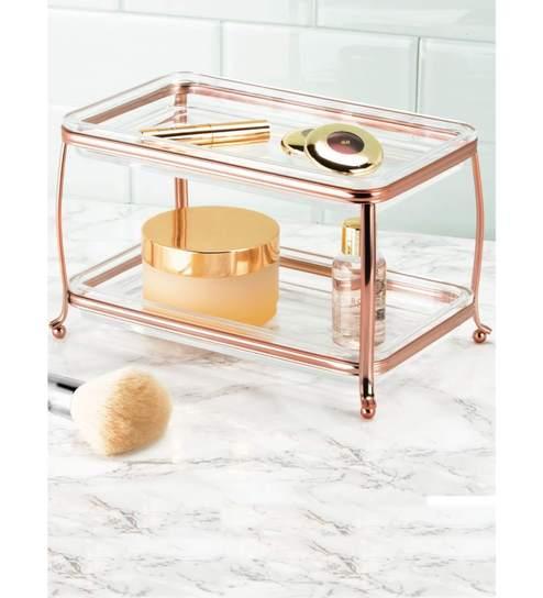 Interdesign York Lyra Rose Gold Double Vanity Tray