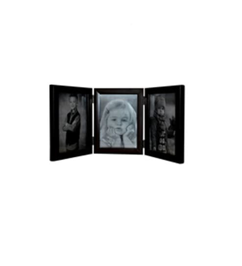 Invogue 3 Picture Black Wooden Photo Frame -4X6 Inches by INVOGUE ...