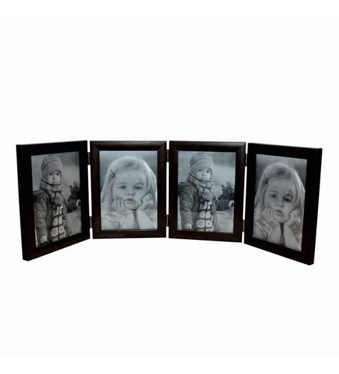 Invogue 4 Picture Black Wooden Photo Frame -8X10 Inches by INVOGUE ...