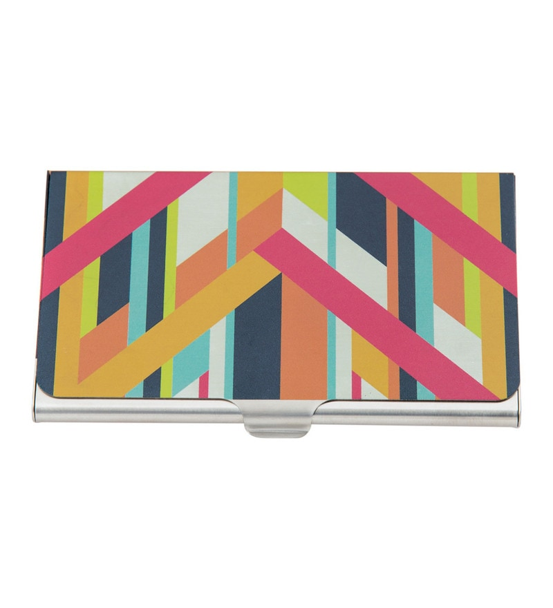 India Circus Arrow Exposition Steel Multicolour Visiting Card Holder