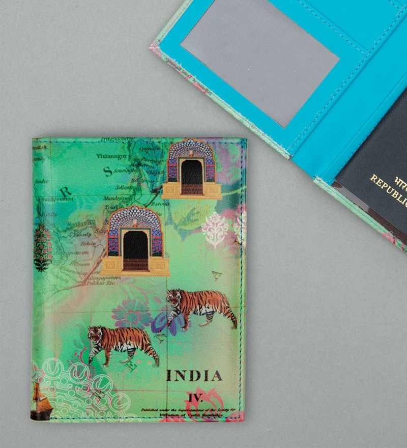 India Circus Desi Wonderland Faux Leather Passport Cover