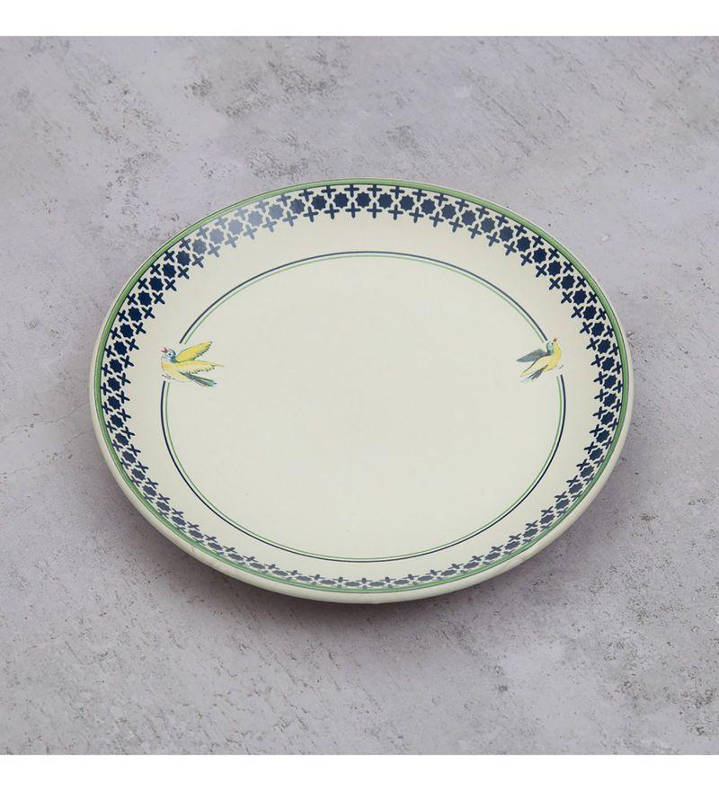 India Circus Flight of Birds Stoneware Quarter Plates - Set of 2