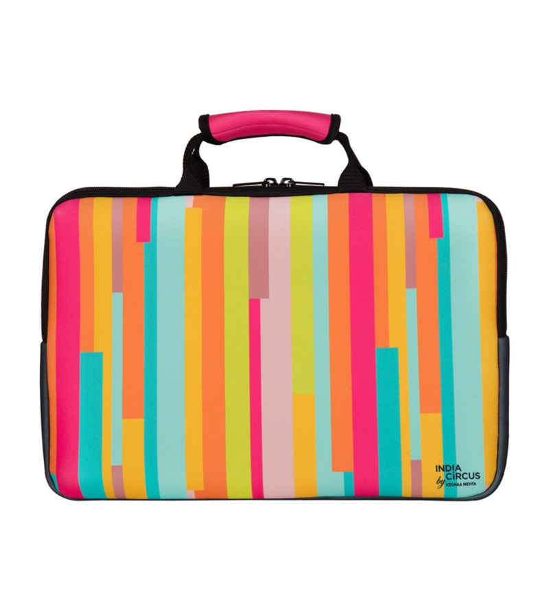 India Circus Life is a Blur Neoprene Multicolour Laptop Bag