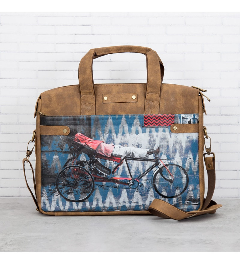 India Circus Tana Tuk Tuk Faux Leather Multicolour Laptop Bag