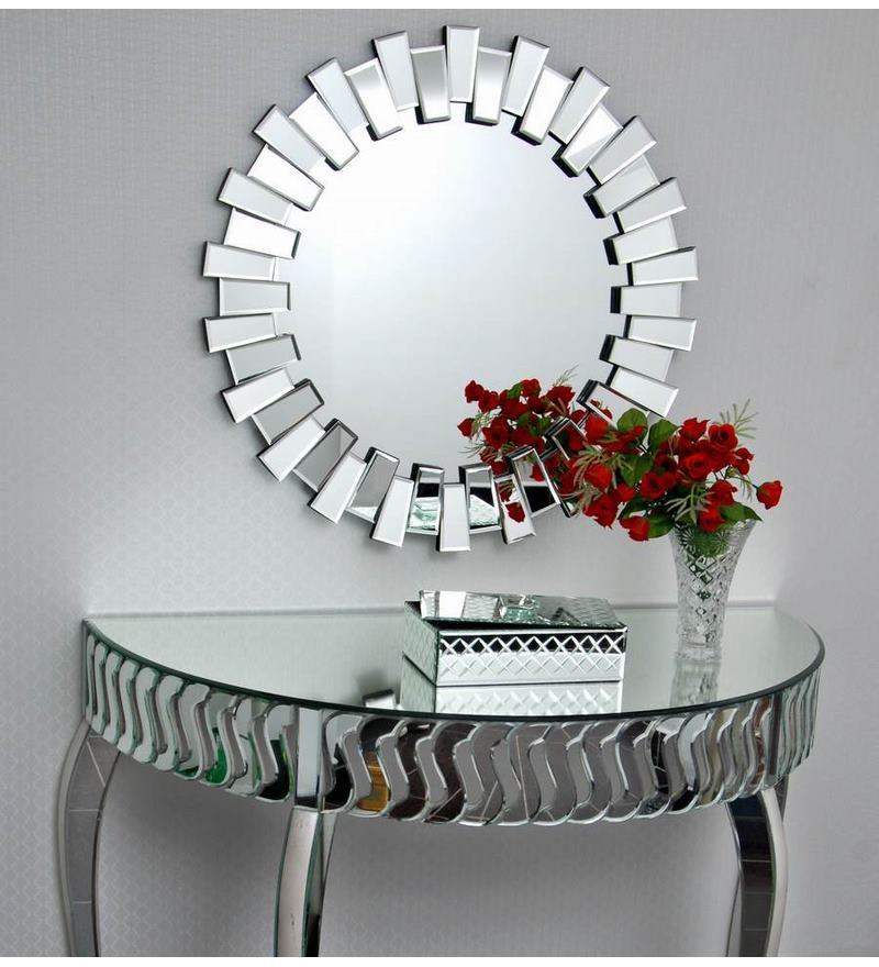 Buy silver glass interior attractively bordered wall for Where can i find mirrors