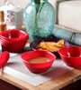 Incrizma Red Melamine Bowl - Set Of 12
