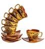 Indeasia Srijan Warli Brown 6-piece Tea Set