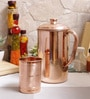 Indian Art Villa Handmade Copper Jug & Glass - Set of 2